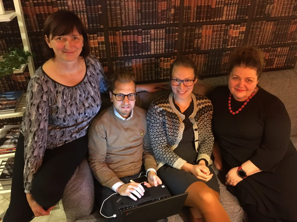 Rasa Baliulevičienė, Fredrik Mårdh, Anna Månsson, Laima Dockeviciene